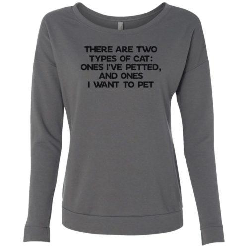 Two Types Of Cat Scoop Neck Sweatshirt