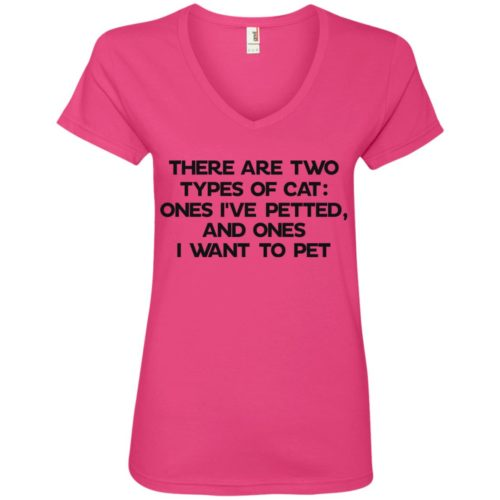Two Types Of Cat V-Neck Tee