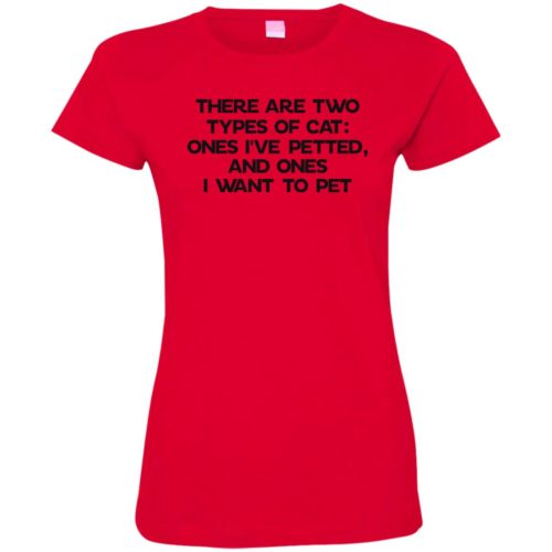 Two Types Of Cat Fitted Tee