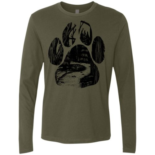Forest Walk Paw Premium Long Sleeve Tee