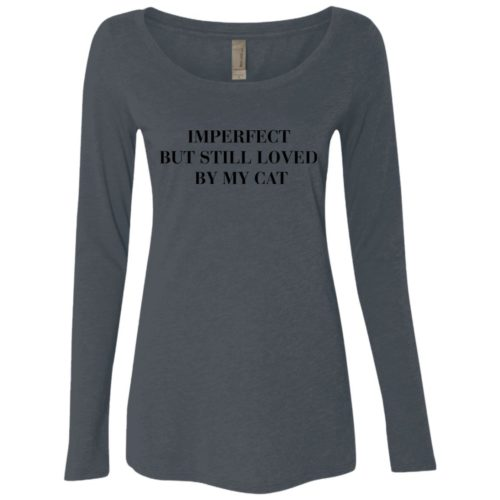 Imperfect Cat Fitted Scoop Neck Long Sleeve