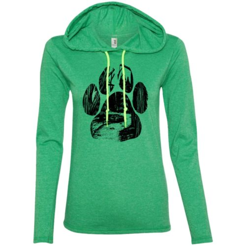 Forest Walk Paw Fitted T-Shirt Hoodie