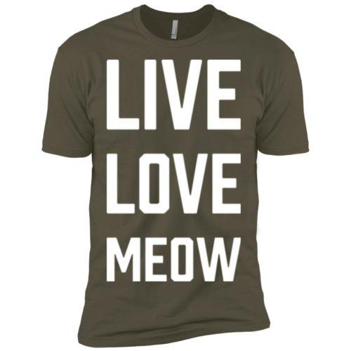 Live Love Meow Premium Tee
