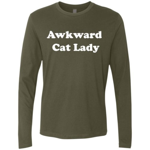 Awkward Cat Lady Premium Long Sleeve Tee