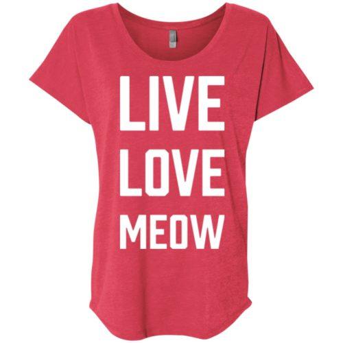 Live Love Meow Slouchy Tee