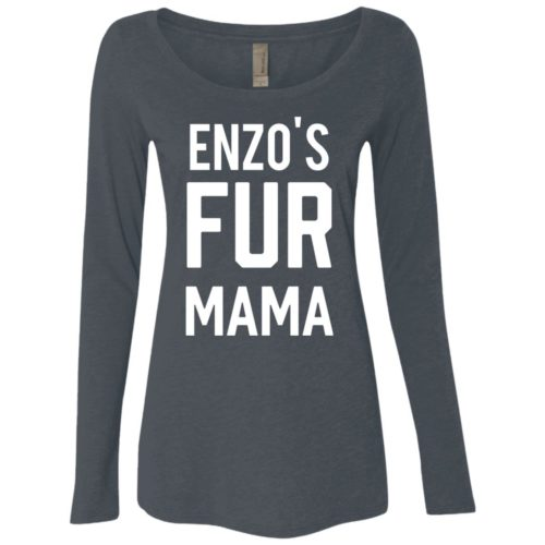Fur Mama Personalized Ladies' Scoop Neck Long Sleeve Shirt