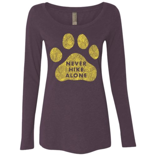 Never Hike Alone Fitted Scoop Neck Long Sleeve
