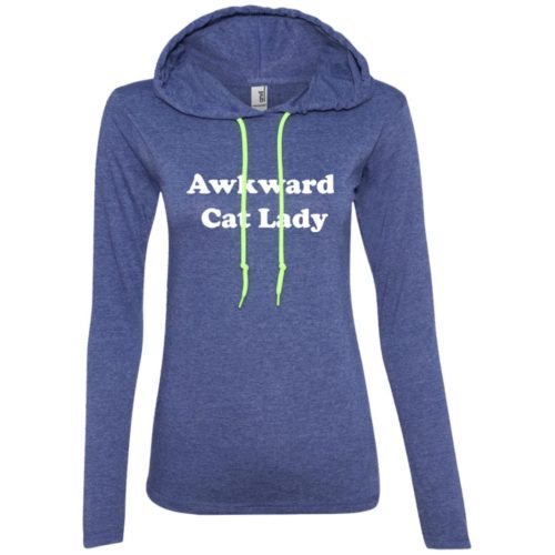 Awkward Cat Fitted T-Shirt Hoodie