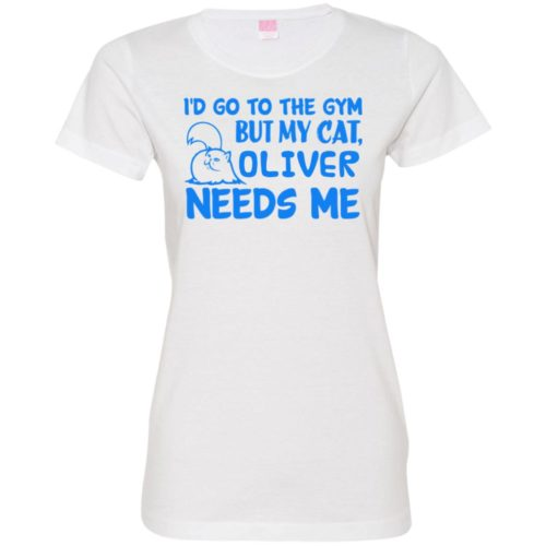 Go To The Gym Personalized Ladies' Premium T-Shirt