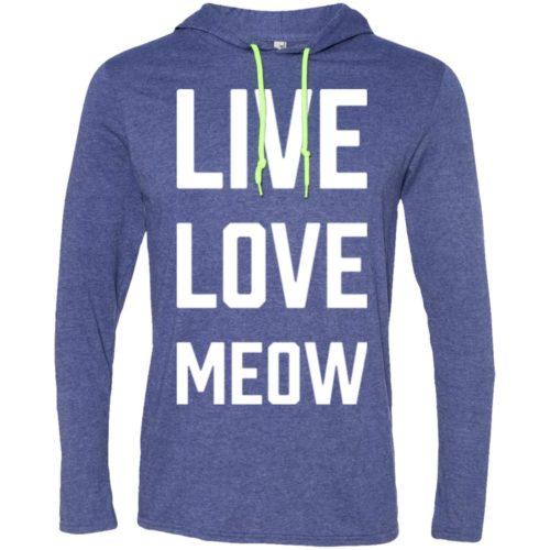 Live Love Meow T-Shirt Hoodie