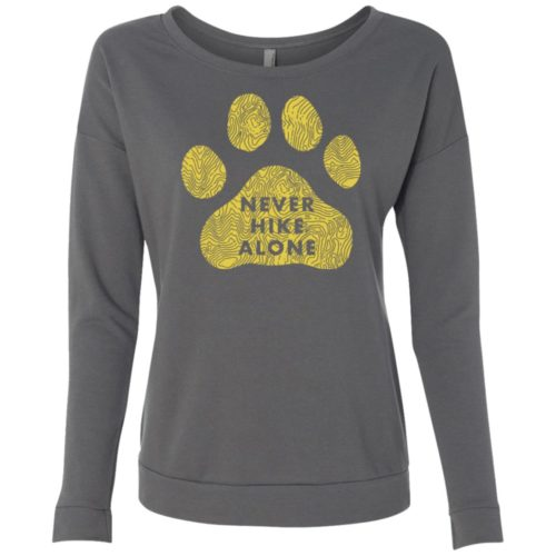 Never Hike Alone Scoop Neck Sweatshirt