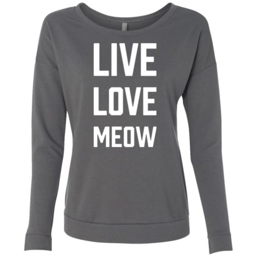 Live Love Meow Scoop Neck Sweatshirt