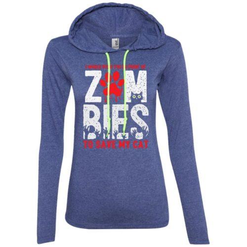 Zombies Ladies' Lightweight T-Shirt Hoodie