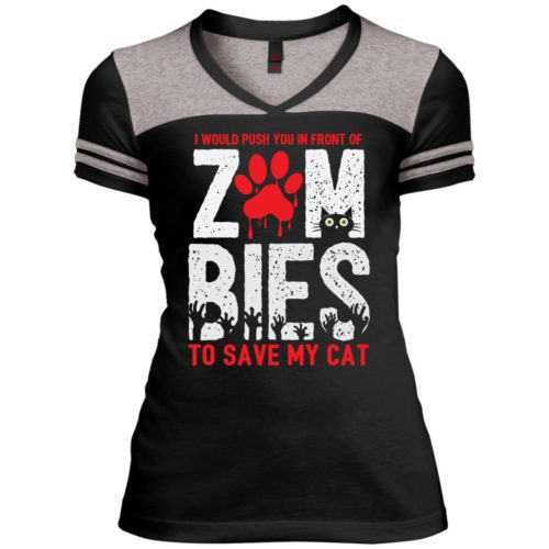 Zombies Varsity V-Neck T-Shirt