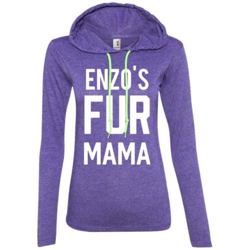 Fur Mama Personalized Ladies' Lightweight T-Shirt Hoodie