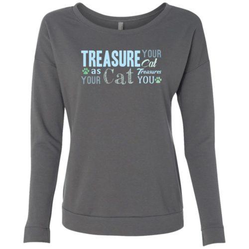 Treasure Your Cat Scoop Neck Sweatshirt