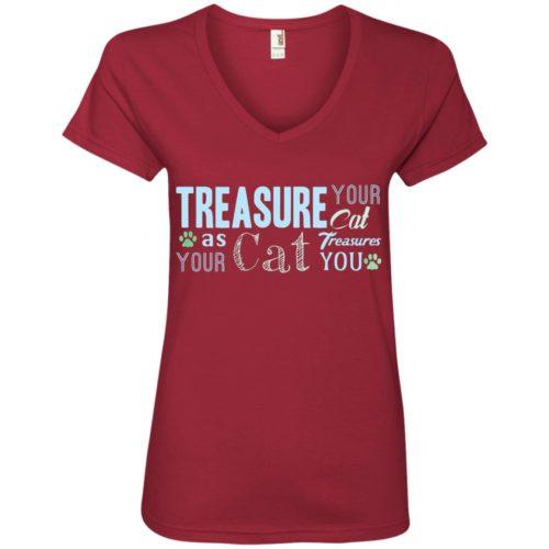 Treasure Your Cat V-Neck Tee