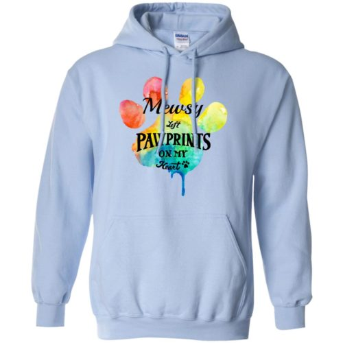 Pawprints On My Heart Personalized Pullover Hoodie