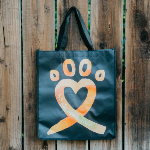 Animal Cruelty Ribbon Grocery Bag