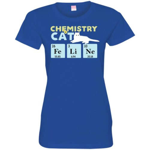 Chemistry Cat Fitted Tee