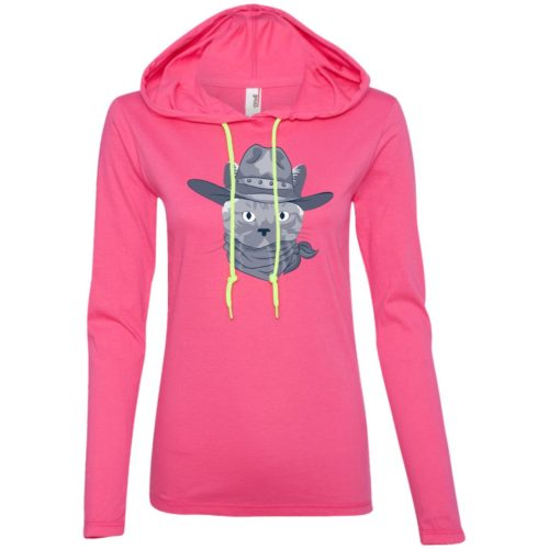 Stylish Cat Fitted T-Shirt Hoodie