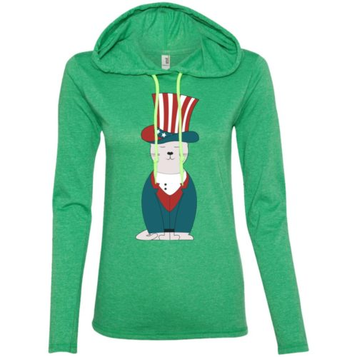 Top Hat Cat USA Fitted T-Shirt Hoodie