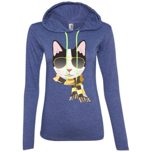 Trendy Cat Fitted T-Shirt Hoodie