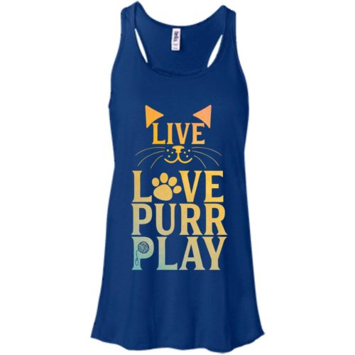 Live Love Purr Play Flowy Tank