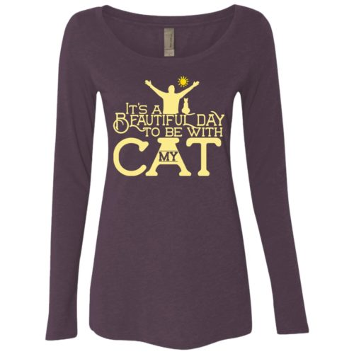 It's A Beautiful Day Fitted Scoop Neck Long Sleeve