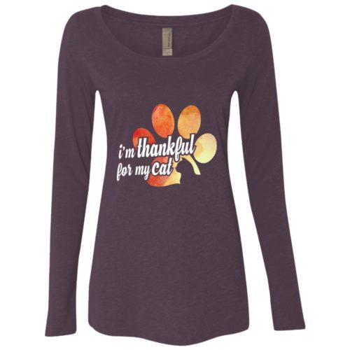 I'm Thankful Fitted Scoop Neck Long Sleeve