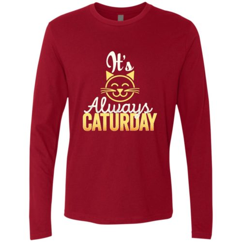Caturday Premium Long Sleeve Tee