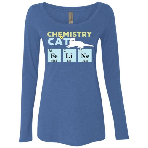 Chemistry Cat Fitted Scoop Neck Long Sleeve