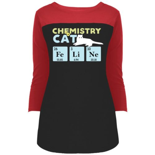 Chemistry Cat Colorblock 3/4 Sleeve