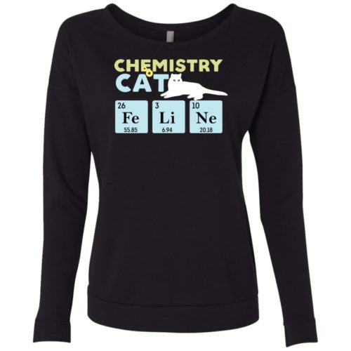 Chemistry Cat Scoop Neck Sweatshirt