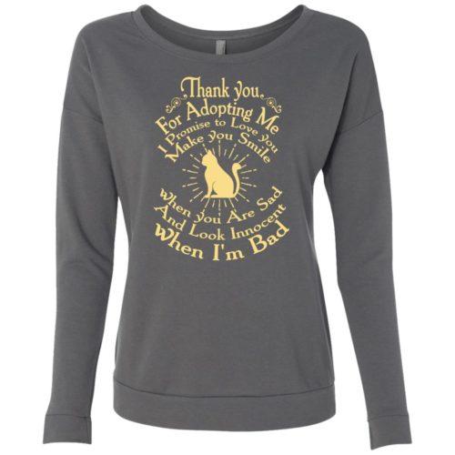 Thank You For Adopting Me Scoop Neck Sweatshirt