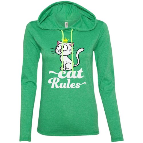 Cat Rules Fitted T-Shirt Hoodie