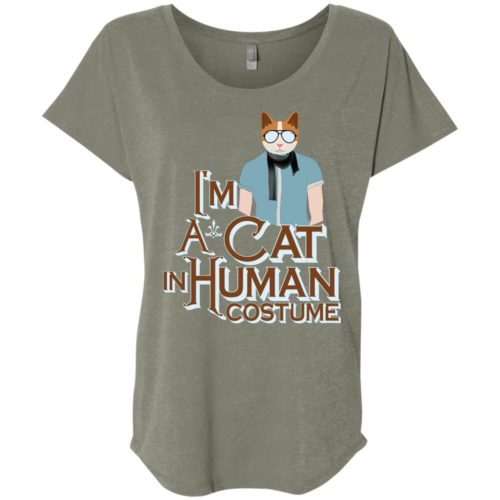 I'm A Cat In Human Costume Slouchy Tee