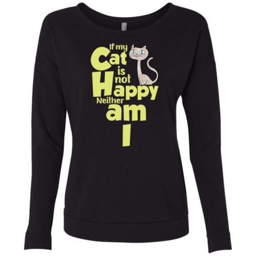 If My Cat Scoop Neck Sweatshirt