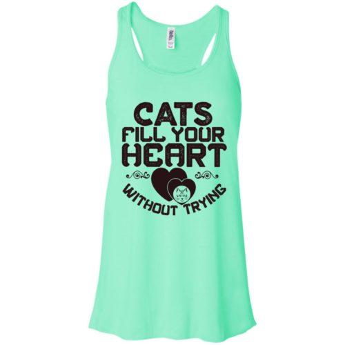 Cat Fills Your Heart Flowy Tank