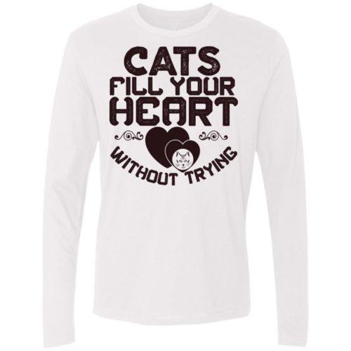 Cat Fills Your Heart Premium Long Sleeve Tee