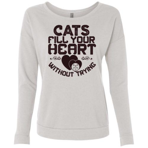 Cat Fills Your Heart Scoop Neck Sweatshirt