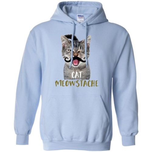 Cat Meowstache Pullover Hoodie