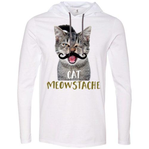 Cat Meowstache T-Shirt Hoodie