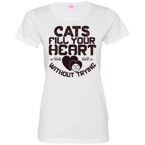 Cat Fills Your Heart Fitted Tee