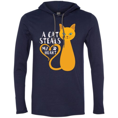 A Cat Steals My Heart T-Shirt Hoodie
