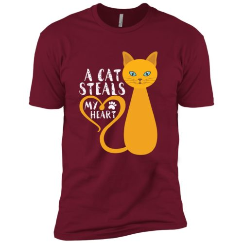 A Cat Steals My Heart Premium Tee