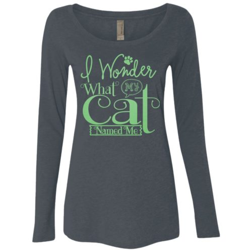 I Wonder Fitted Scoop Neck Long Sleeve