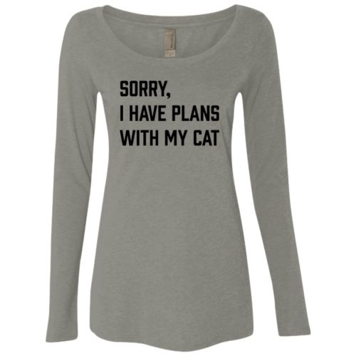 Sorry I Have Plans Fitted Scoop Neck Long Sleeve