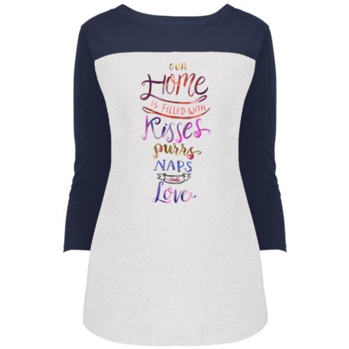 Our Home Is Colorblock 3/4 Sleeve