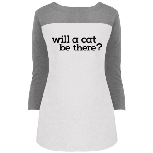 Will A Cat Be There Colorblock 3/4 Sleeve